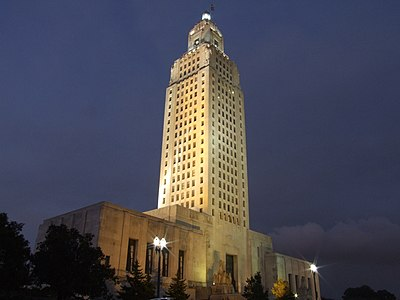 Louisiana State Capitol at night.jpg