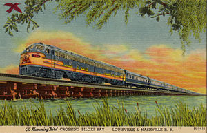 Humming Bird (train) - Depiction of the train circa 1940s - 1950s.