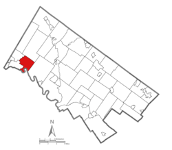 Location of Lower Pottsgrove Township in Montgomery County