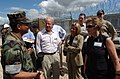 Lt. Abuhena Saif Ul Islam, U.S. Navy Muslim Chaplain, talks with congressmen touring Camp X-Ray, Jan 020125-N-ZC101-508.jpg