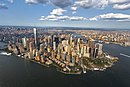 Luchtfoto van Lower Manhattan