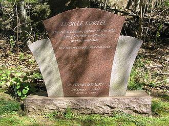 Lucille Lortel - The headstone at Lucille Lortel's grave in Westchester Hills Cemetery
