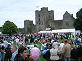 Ludlow Food Festival and Castle 2005 from castle.jpg