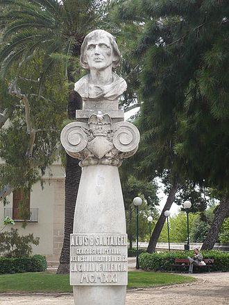 Luis de Santángel - A bust of Luis de Santángel in Alameda de València.
