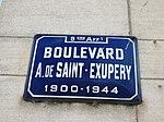 Lyon 9e - Boulevard Saint-Exupéry - Plaque (fév 2019).jpg