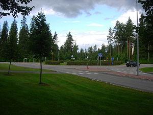 Mänttä-Vilppula - Roundabout of Satakunnantie
