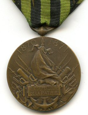Commemorative medal of the 1870–1871 War - Reverse of the Commemorative medal of the 1870–1871 War