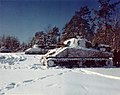 M-4 Sherman Tanks Lined up in a Snow Covered Field, near St. Vith, Belgium (15726815434).jpg