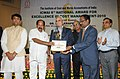 M. Veerappa Moily presenting the 8th National ICWAI Award for Excellence in Cost Management-2010, in New Delhi. The Minister of State for Petroleum and Natural Gas and Corporate Affairs, Shri R.P.N. Singh and the Secretary.jpg