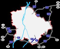 magyarország autóútjai térkép M51 es autóút (Magyarország) – Wikipédia magyarország autóútjai térkép