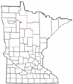 Location of Little Rock within Beltrami County