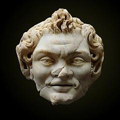Satyr, Roman sculpture; white marble.
