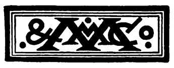 This logo appeared in Leslie Stephen's biography of Alexander Pope, published by Macmillan & Co in London in 1880 MacMillan and Co logo 1880.jpg