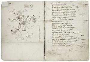 Macro Manuscript - A page from Wisdom in the Macro Manuscript