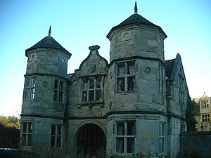 Robert Broke - Madeley Court, the manor house built on the Madeley estate by Broke's descendants. The impressive gatehouse was probably built by John or Basil Brooke. The Court is now a hotel.