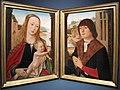Maestro di bruges, dittico con madonna col bambino e un donatore, 1495 ca..JPG