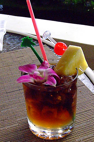 Tiki culture - The mai tai is a quintessential tiki cocktail.