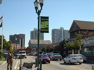 main street of Fort Lee in NJ