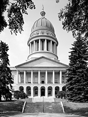 Maine State House, designed by Charles Bulfinc...