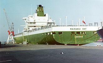 Overseas Containers - MV Mairangi Bay at Rotterdam