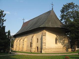 Bogdana Monastery heritage site in Suceava County, Romania