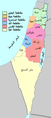 Mandatory Palestine 1945 subdistricts and districts-ar.png
