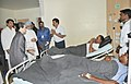Manmohan Singh meets the injured persons, at the Rama Krishna Care Hospital, in Raipur, Chhattisgarh. The Chairperson, National Advisory Council, Smt. Sonia Gandhi and the Minister of State for Home.jpg