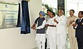Manmohan Singh unveiling the plaque to inaugurate the Indian Institute of Corporate Affairs Campus, at Manesar, Haryana. The Union Minister for Corporate Affairs, Dr. M. Veerappa Moily, the Chief Minister of Haryana.jpg