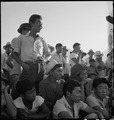 Manzanar Relocation Center, Manzanar, California. Evacuees of Japanese ancestry are enjoying a base . . . - NARA - 538068.tif
