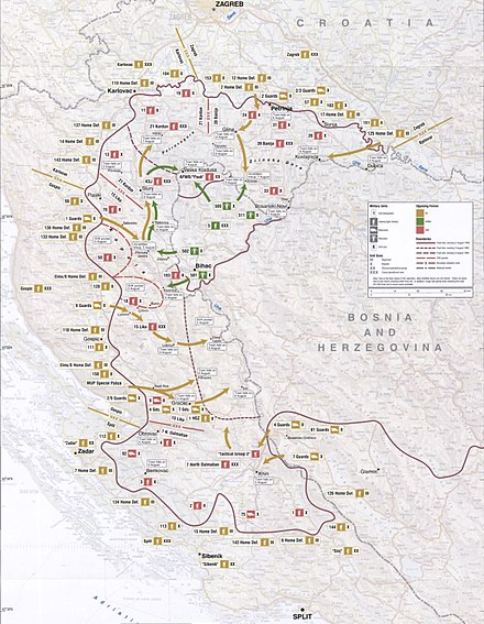 Map of Operation Storm Map 49 - Croatia - Operation Oluja, 4-8 August 1995.jpg