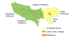 Location of Shinjuku