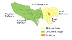 新宿區位置圖