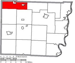 Location of Flushing Township in Belmont County