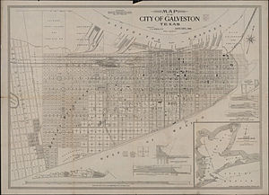 Galveston, Texas - Map of City of Galveston (circa 1904)
