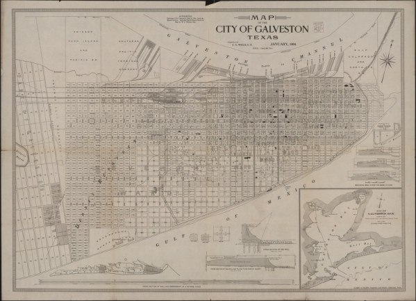 Map of City of Galveston