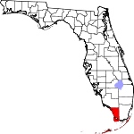 A state map highlighting Monroe County in the southernmost part of the state. It is medium in size.