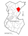 Map of Huntingdon County, Pennsylvania Highlighting Miller Township.PNG