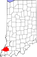 Map of Indiana highlighting Gibson County.svg