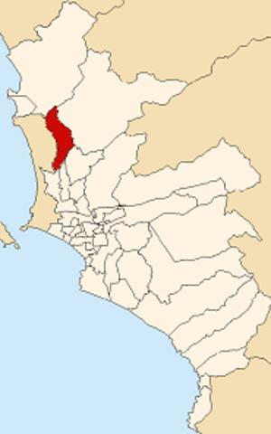 Puente Piedra District - Image: Map of Lima highlighting Puente Piedra