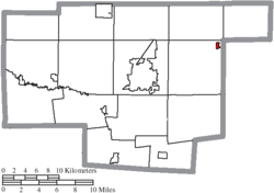 Location of Caledonia in Marion County