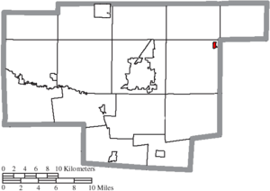 Caledonia, Ohio - Image: Map of Marion County Ohio Highlighting Caledonia Village