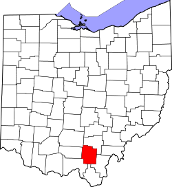 Map of Ohio highlighting Jackson County.svg