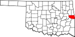 State map highlighting Sequoyah County