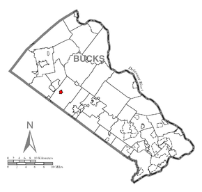 Map of Silverdale, Bucks County, Pennsylvania Highlighted.png