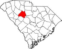 Map of South Carolina highlighting Newberry County