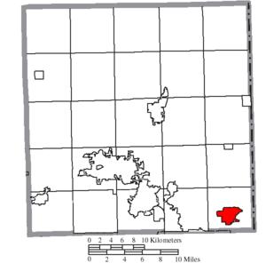 Hubbard, Ohio - Image: Map of Trumbull County Ohio Highlighting Hubbard City