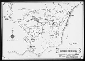 Murrumbidgee Irrigation Area - 1908 map of the Murrumbidgee Irrigation Area