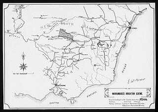 Murrumbidgee Irrigation Area food production system in south east Australia