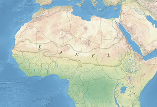 Ecoclimatic and biogeographic transition zone in Africa