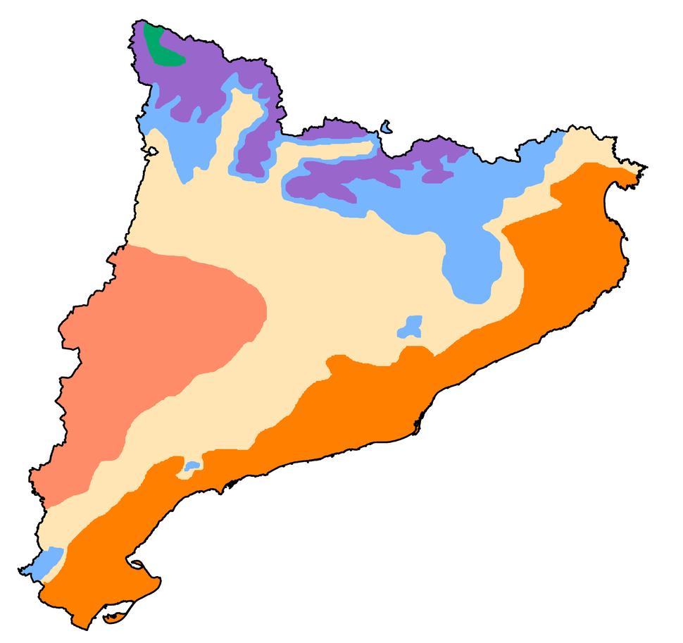 Mapa climàtic de Catalunya